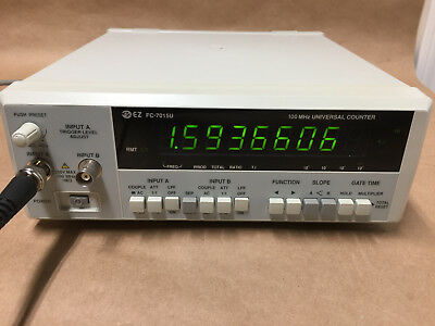 EZ FC-7015U 100MHz UNIVERSAL FREQUENCY COUNTER TEST EQUIPMENT