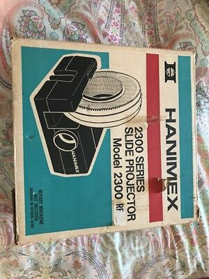 Hanimex 2300 Series Slide Projector Working With A Carousel Cartridges