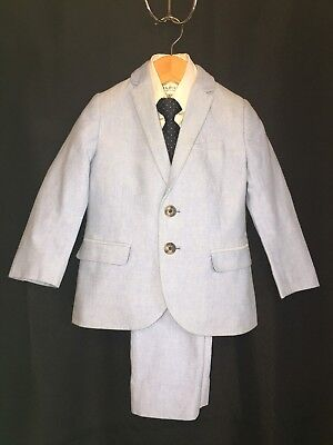 H&M Toddler Boy Light Blue Suit Set Size 2-3y  Perfect for Holiday, Wedding