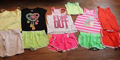 girls justice 18/20 lot of 11 summer lot 5 outfits ~ sets euc and some nwt