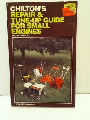 Vintage Chilton's Repair & Tune-Up Guide For Small Engines 1 1/2 To 20 Horsepwr