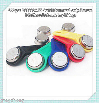 100 pcs DS1990A F5 Serial Num read-only iButton I-Button electronic key IB tags