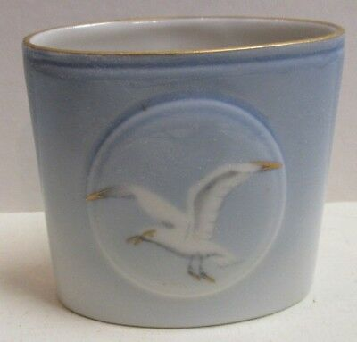 B & G Bing & Grondahl Seagull Toothpick Holder White & Blue Gold Accents