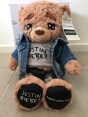 Justin Bieber Purpose World Your Limited Edition Build A Bear