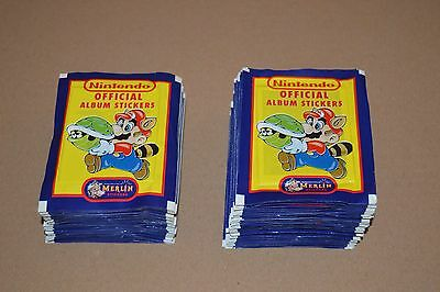 1992 MERLIN NINTENDO Stickers 80 Packets 480 Stickers Super Mario Zelda SNES
