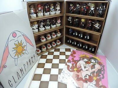 Clamp no Kiseki Vol. 1-12 Chess Figure Full Set 38 Pieces with chess board