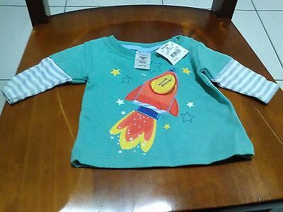 Baby Boys Long Sleeve Top / T-Shirt ..... BRAND NEW WITH TAGS