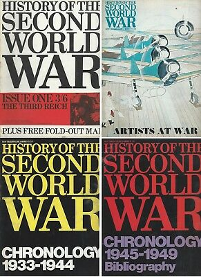 Purnell's History of the Second World War - FULL SET - 128 issues