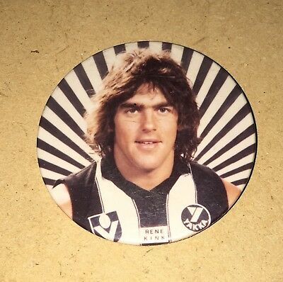 LATE 70'S/EARLY 80's COLLINGWOOD PLAYER BADGE - RENE KINK