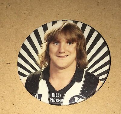 LATE 70'S/EARLY 80's COLLINGWOOD PLAYER BADGE - BILLY PICKEN