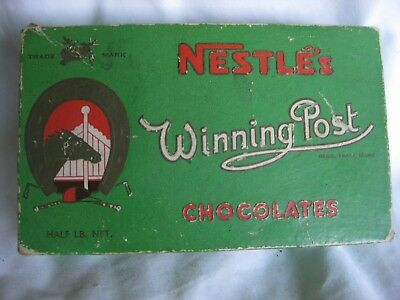 Nestle's Winning Post Chocolates Embossed Horse And Letters On Box No.484 Nsw