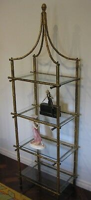 VINTAGE HOLLYWOOD REGENCY BAMBOO DISPLAY SHELVING - Murrumbeena - VIC