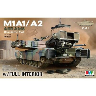 Rye Field Model RFM 5007 M1A1 / A2 Abrams with Full Interior 2in1 1/35