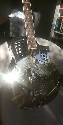AIERSI Chrome Plated Cutway Tricone Resophonic Guitar Model A48-BCC Resonator