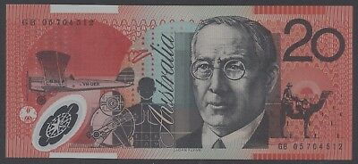 2005 Macfarlane Henry UNC Last Year Prefix GB05 $20 note - Ideal for Type set