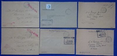 6 Malta Special HandStamp Cancellations SHC Covers Certified Official FIELD POST