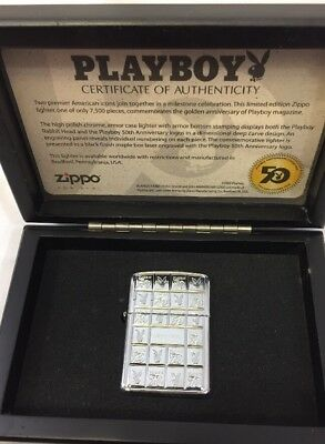 2003 Zippo Lighter - Playboy 50th Anniversary Limited Edition Mint In Box