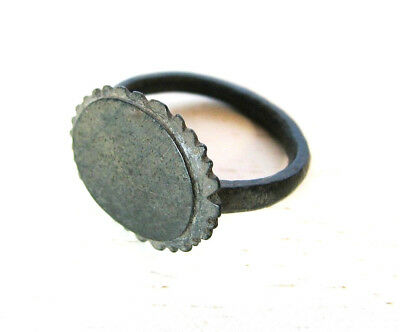 Аncient Artifact Medieval Bronze Ring Middle Ages