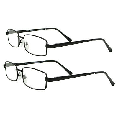 Metal Strong reading glasses spectacles ladies mens 2 pairs new 1.5 2.0 2.5 3.0