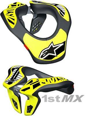 2018 Alpinestars Kids Youth Motocross MX Offroad Race Neck Support Collar Yellow