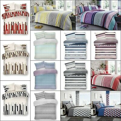 Duvet Cover Quilt Cover New Reversible Bedding Poly-Cotton Single Double King