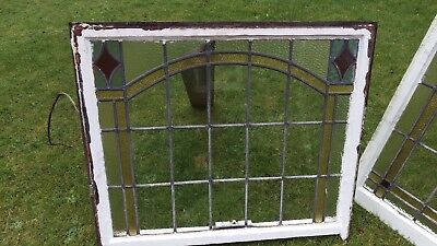 stained glass Original Antique box sash Leaded Window
