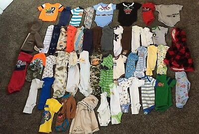 Infant Baby Boy Clothes Lot 0-3 And 3 Months (50 Items!)