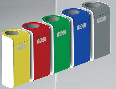 Barrel Container Waste Collection Cover Tilting Colourful