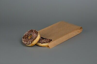KRAFT Grease Proof Sulphite BROWN & WHITE PAPER BAGS Sweet Food Sandwich Bakery