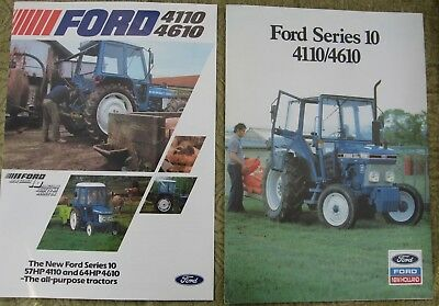 Ford Tractor 4110, 4610 Ford Series 10 Brochure Leaflet