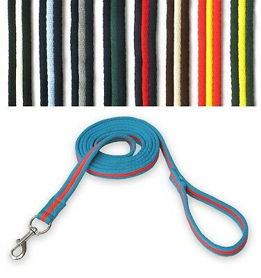GEE TAC HORSE padded lead ROPE MULTI COLOR LUNGE LINE 2.4 mt DOG LEAD TRACKING