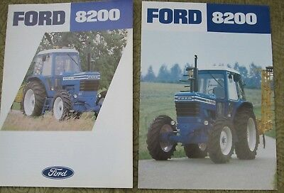 Ford Tractor 8200 Brochure Leaflet & Specification Sheet