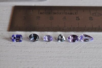 LOT de TANZANITES NATURELLES tot 5,76ct 6pcs VS-VVS tanzanite AA-AA+ DESTOCKAGE