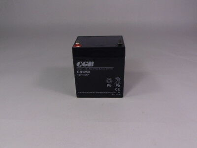 Wuhan Changguang CB1250 Lead Acid Battery Rechargeable 12V 5.0AH  USED