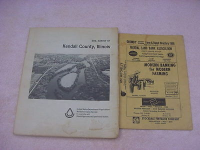 Vintage Kendall County Illinois Soil Survey Book & Grundy County Illinois Direct
