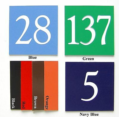 ENGRAVED DOOR NUMBERS / SIGNS / PLAQUES - CUSTOM NUMBER / SIGN / PLAQUE 75x75mm
