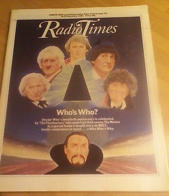 Radio Times 1983 and 1993 editions with Doctor Who 20th & 30th anniversary items