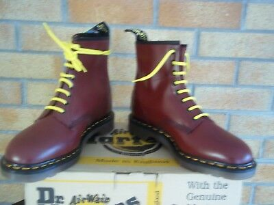 Dr Martens 1460 Z  Cherry Red   Made  In England   Mod Ska   Skin
