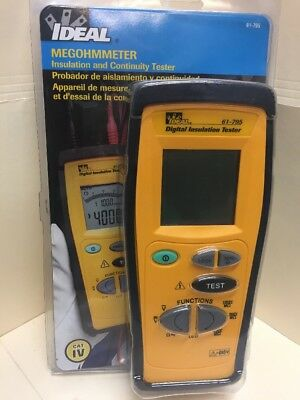 IDEAL Megohmmeter 61-795 Hand-held Insulation Tester New
