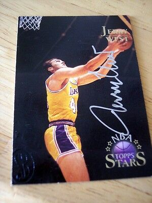 Jerry West 1996 Golden Autograph Topps Stars Los Angeles Lakers Basketball Card