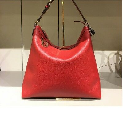 233177c886cf NEW GUCCI Leather ROSSO RED Interlocking G Charm 449711 HOBO BAG ...