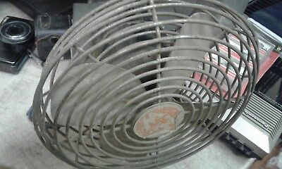 VINTAGE MW AIRLINE  Model O5VSR - 2547A  TABLE FAN 4 BLADE STEAM PUNK CAGE