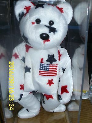"Ty Beanie Babies Collection Retired Original "" Glory""   Dob:  July 4,1997"