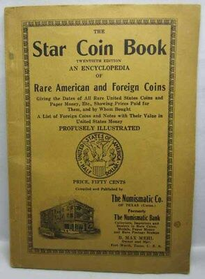 Early 1900's The Star Coin Book Twentieth Edition Rare American & Foreign Coins