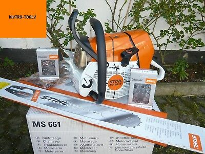 """Brand New Stihl Ms661 Chainsaw With 28' 32 """" Chain And Bar"""