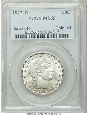 1912-D Barber Half Dollar MS65 PCGS