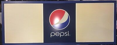 "HUGE! 20""x 50"" Pepsi-Cola Menu Board Advertising Man Cave Memorabilia She Shack"