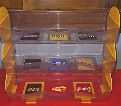 M&M Mars RARE Collectors Candy Counter Display Rack 3 Tier Collectible VGUC