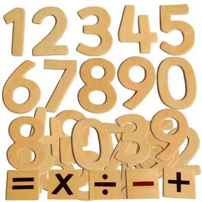 Educational Wooden Numbers Kids Craft Math Counting Plaques Signs Pack Size 30
