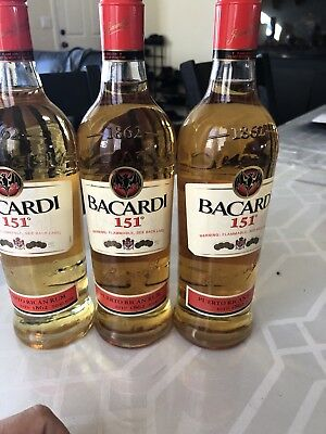 bacardi 151 Discontinued Collectible 750ml Auction per bottle
